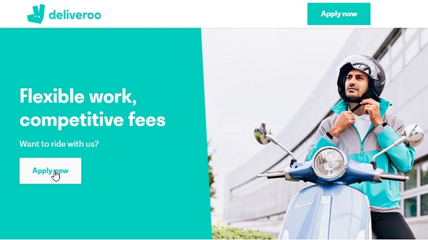 deliveroo apply now