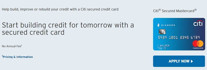 citi secure credit cards