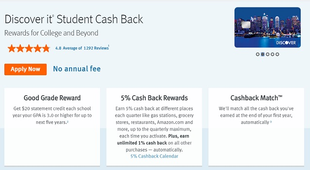 discover it student cashback