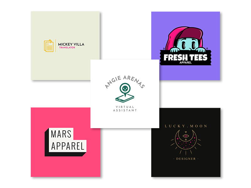logos for online business