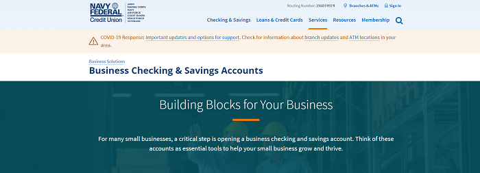 Navy best business bank accounts