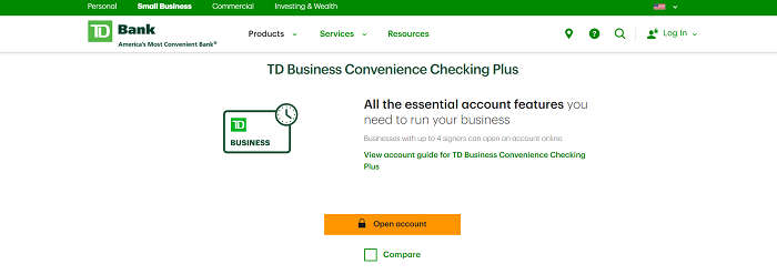 td best business bank accounts