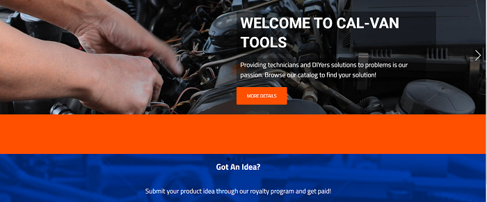 cal van tools companies that pay for ideas