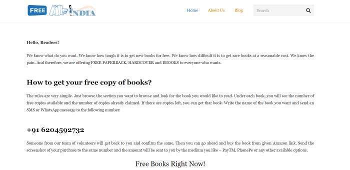 free paperback site