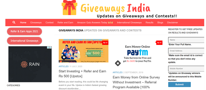 indian giveaways